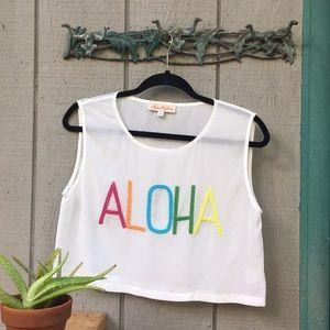 Mara Hoffman Aloha Crop Top 🏝